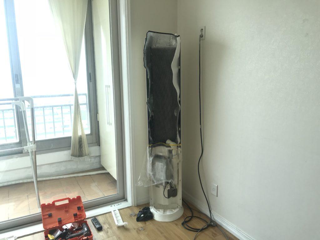 タワー型エアコン 清掃 掃除 クリーニング